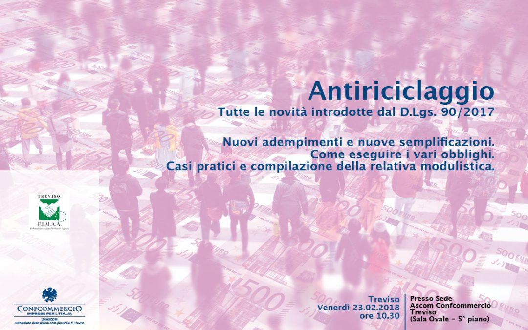 ANTIRICICLAGGIO seminario 23.02.2018 ore 10.30