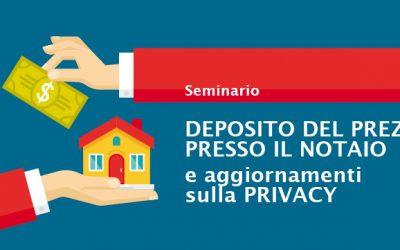 seminario deposito prezzo notaio e aggiornamento privacy